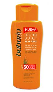 Babaria Aloe Vera Sun Milk SPF 50 200ml | Mia Beauty Ltd
